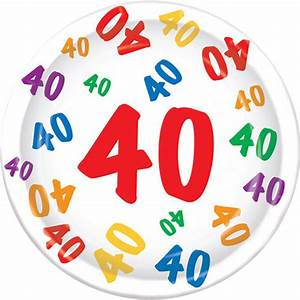 Deko 40 Geburtstag Selber Machen : teller 40 geburtstag party partydeko partyartikel f r mottop ~ Frokenaadalensverden.com Haus und Dekorationen