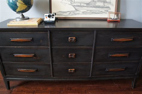 distressed dresser european paint finishes mid century graphite distressed dresser