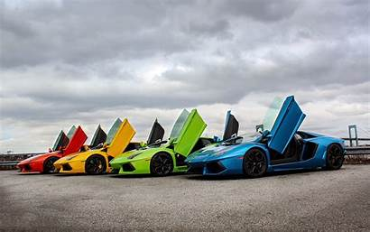 Lamborghini Rainbow Supercars Veneno Cars Wallpapers Aventador