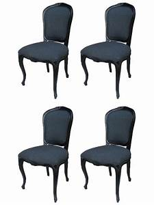 Chaise Style Baroque : 4 chaises baroque en acajou massif noir meuble de style ~ Teatrodelosmanantiales.com Idées de Décoration