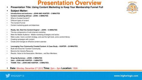 PPT - Presentation Overview PowerPoint Presentation, free ...