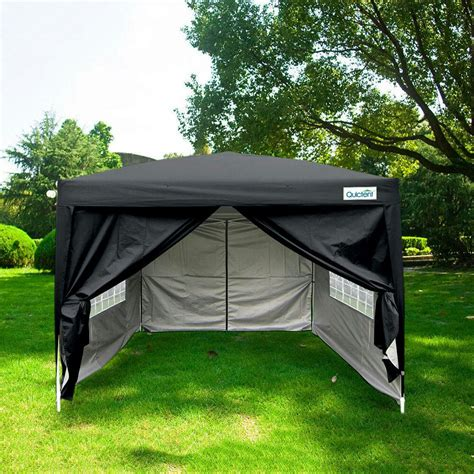 quictent silvox xez pop canopy gazebo party tent black waterproof ebay