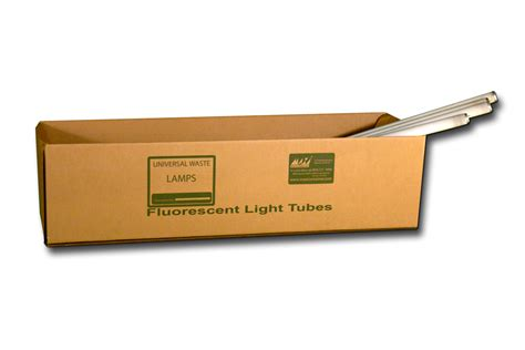 hazardous waste bags and boxes fluorescent light