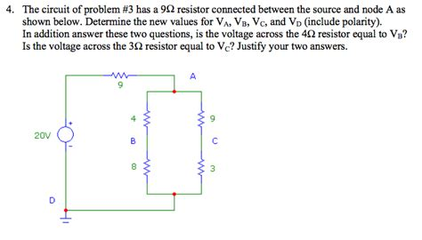 Solved The Circuit Problem Has Ohm Resistor Conn