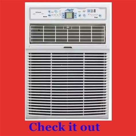 air conditioner  vertical narrow casement sliding window  small thin ac units