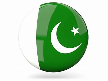 Pakistan Flag Icon Round Glossy Illustration Country