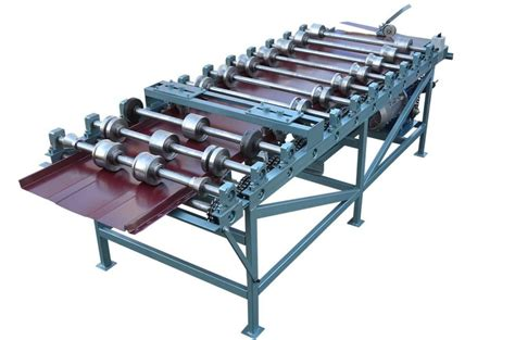 snap lock standing seam panel roll forming machine metal roof experts  ontario toronto canada
