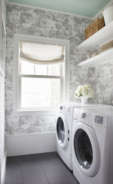 wallpaper  laundry rooms transitional laundry room