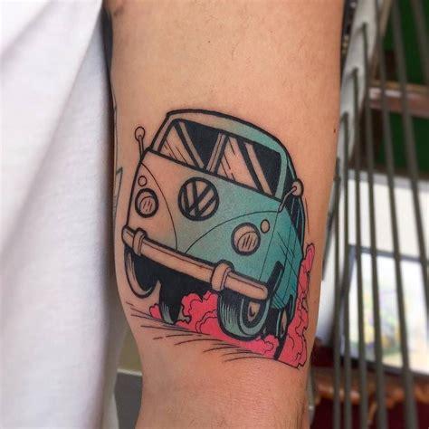 volkswagen bus tattoo pin by rollen schick de on vw tattoo pinterest vw bus