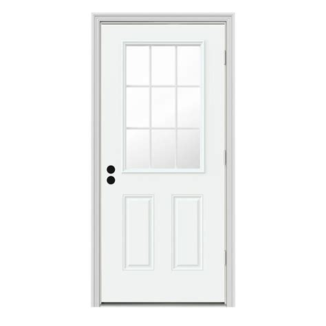 jeld wen 36 in x 80 in 9 lite white painted steel