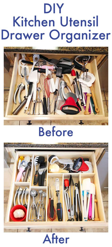 diy kitchen utensil drawer organizer 45 small kitchen organization and diy storage ideas 8768