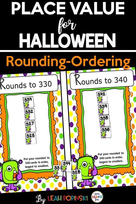 halloween math place  rounding ordering