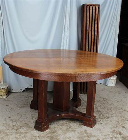 Oak Table Dining Antique Round Limbert Thick