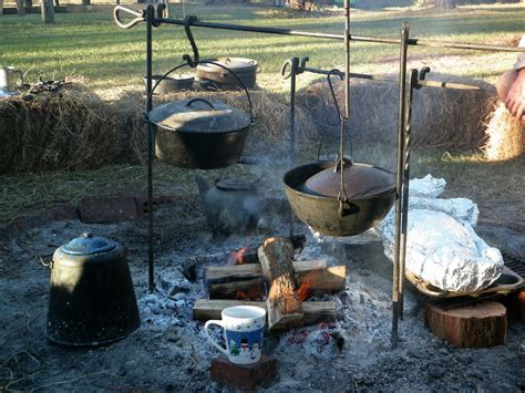 cooking fire open outdoor cowboy equipment meals fun clue adventures