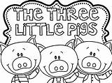 Pigs Three Coloring Pages Houses Printable Getcolorings sketch template