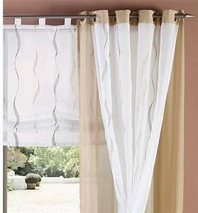 Vorhänge Beige Braun : 2 st gardine 140 x 245 wei braun beige bestickt voile store vorhang sen neu ebay ~ Sanjose-hotels-ca.com Haus und Dekorationen