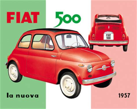 Fiat Sign by Fiat 500 Metal Sign