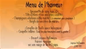 Halloween Menu Ideas
