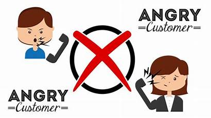 Angry Customer Dealing Difficult Irate Clipart Avoid