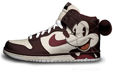 nike shoe design vintage mickey nike dunks by becauseimjay on deviantart