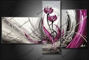 Tableau Fleurs Moderne : tableau fleur violet dancing flowers tableau design fleur ~ Teatrodelosmanantiales.com Idées de Décoration