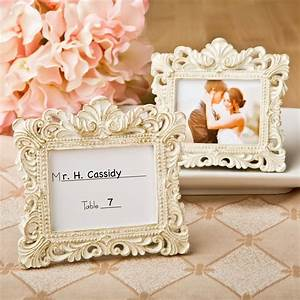 ivory gold place card holders picture frames With wedding favor picture frames