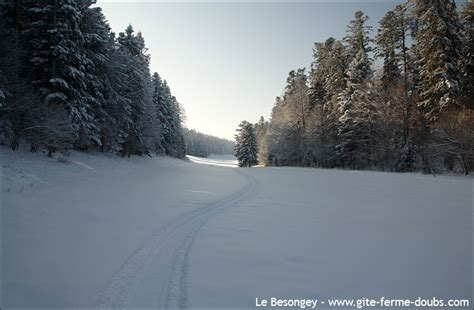 gites de chambres d hotes pistes ski fond arc sous cicon doubs jura