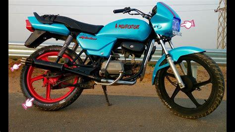 Modified Bikes Honda by Splendor Modified Mod 2 Mini Gun Exhoust Modified Bike