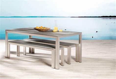 outdoor küche edelstahl bank set seattle edelstahl look 2 b 228 nke und 1 tisch sitzgruppen gartenm 246 bel lilimo shop