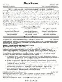 portfolio resume exles resume sle 18 portfolio manager resume career resumes