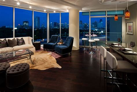 view  dallas  night luxury loft renting  house
