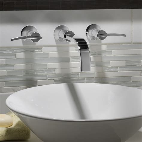 wall mount bathroom sink faucet berwick wall mounted faucet lever handles american