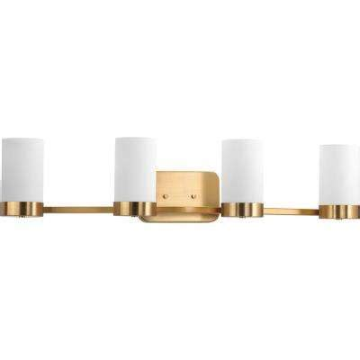 Gold Bathroom Light Fixtures by Gold Vanity Lighting Bathroom Lighting The Home Depot