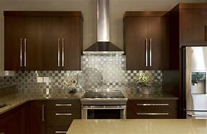 stainless steel backsplash pictures and design ideas With kitchen colors with white cabinets with diamond metal wall art