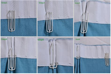 Pleated Hook Drapes - 72mm white metal 4 prongs pinch pleat drapes curtain
