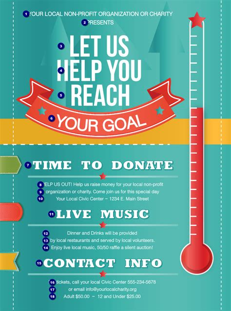 fundraiser flyer template free fundraising thermometer flyer ticketprinting