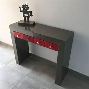 Console Avec Tiroir : meuble console avec tiroir console design console m tal ~ Teatrodelosmanantiales.com Idées de Décoration