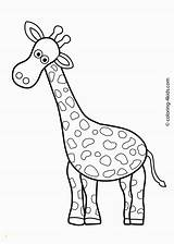 Coloring Animals Zoo Printable Giraffe Divyajanani sketch template