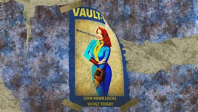 Fallout Vault Tec Background Wallpapers Backgrounds Poster