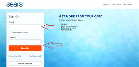 sears credit card pay by phone searscard login and manage your sears credit card