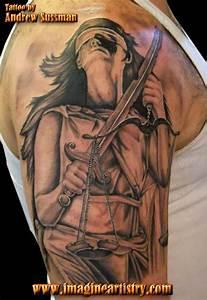 23+ Lady Justice Tattoos On Sleeve