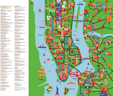 large detailed  york tourist attractions map  york