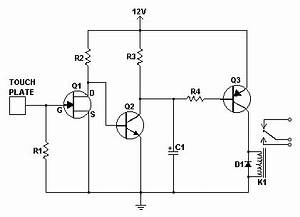 simple touch switch circuit With latchingquot relay in control circuit