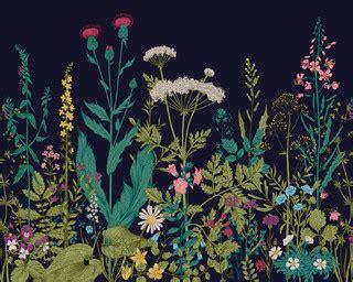 botanical fleur wall mural contemporary wallpaper
