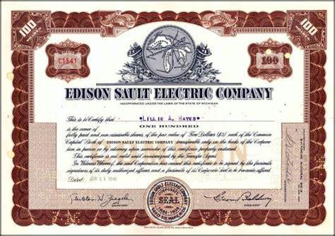 Edison Electric Light Company by Edison Sault Electric Company