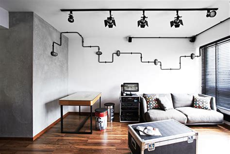 10 industrial style homes with exposed pipes and trunking