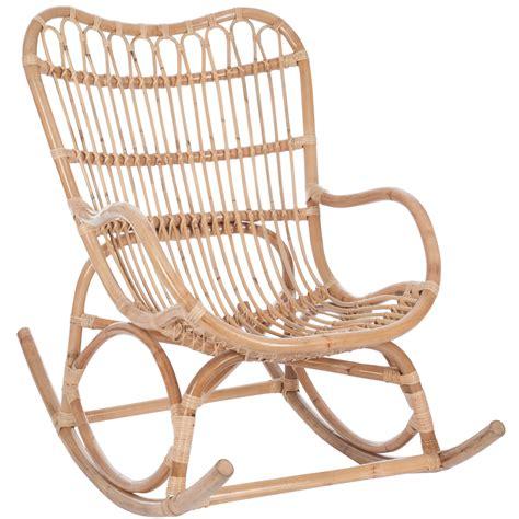 chaise à bascule pas cher fauteuil à bascule bambou et rotin jolipa 61390 magasin