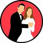 Icon Married Couple Bride Vector Heart Pixabay