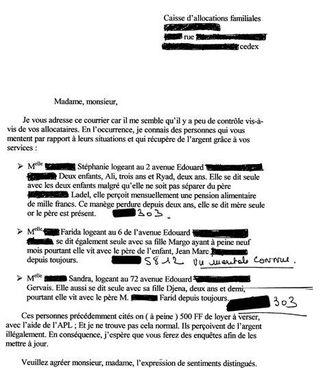 modele lettre reclamation caf gratuit modele lettre de denonciation caf contrat de travail 2018