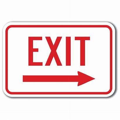 Exit Sign Signs Clip Clipart Printable Arrow